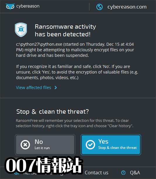 Cybereason RansomFree Screenshot 2