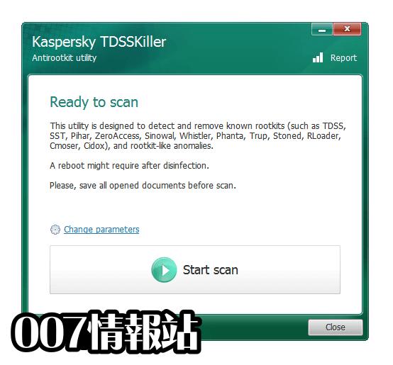 Kaspersky TDSSKiller Screenshot 1