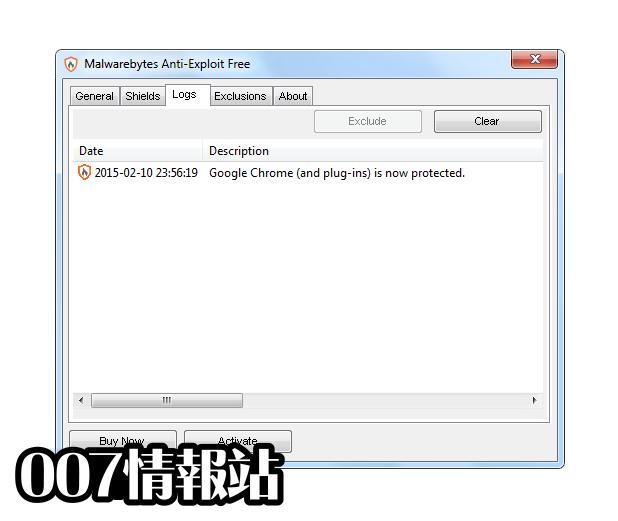 Malwarebytes Anti-Exploit Screenshot 3
