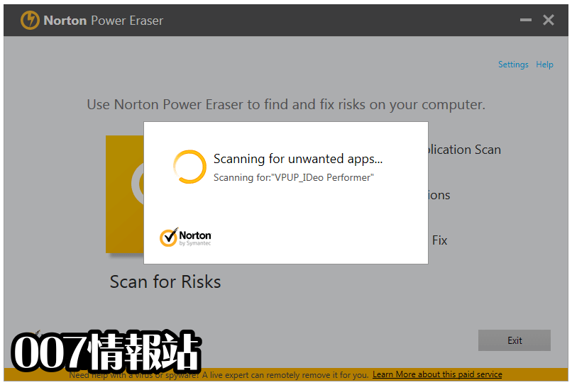 Norton Power Eraser Screenshot 2