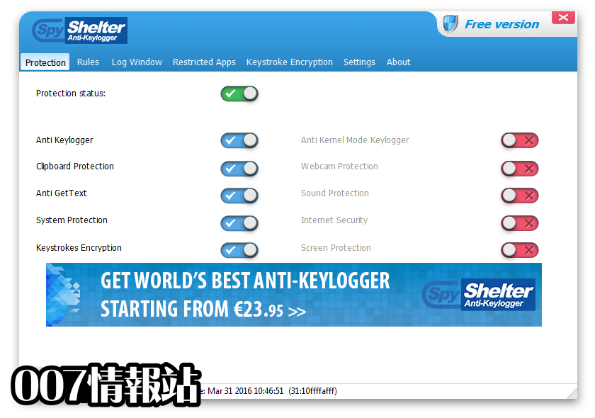 SpyShelter Anti-Keylogger Premium Screenshot 1
