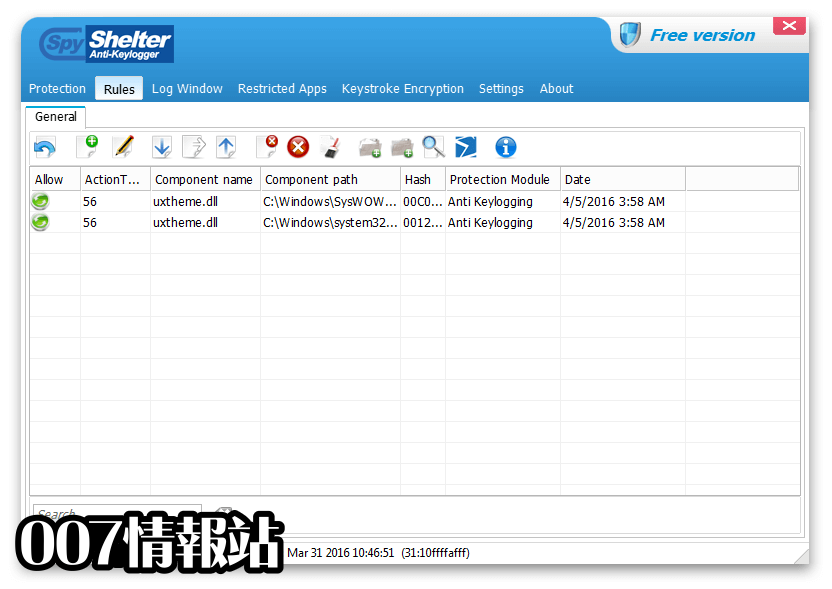 SpyShelter Anti-Keylogger Premium Screenshot 2