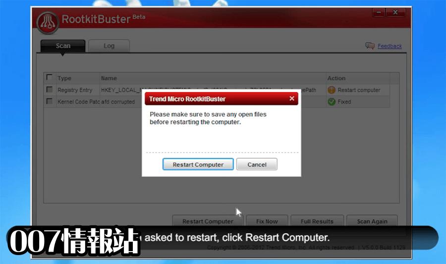 Trend Micro RootkitBuster (32-bit) Screenshot 4