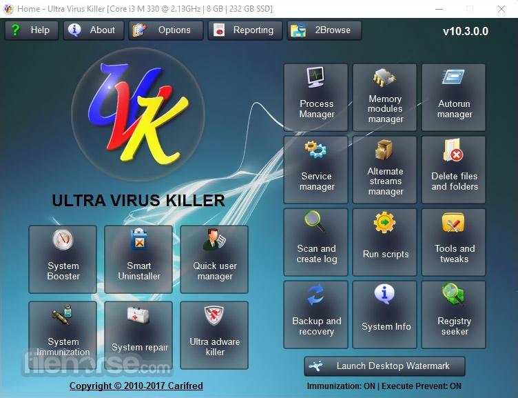 UVK Ultra Virus Killer Portable Screenshot 1