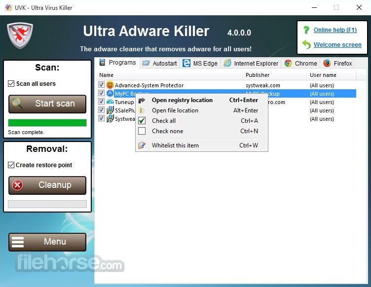UVK Ultra Virus Killer Portable Screenshot 2