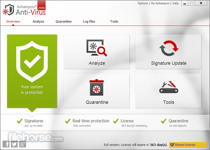 Ashampoo Anti-Virus Screenshot 1