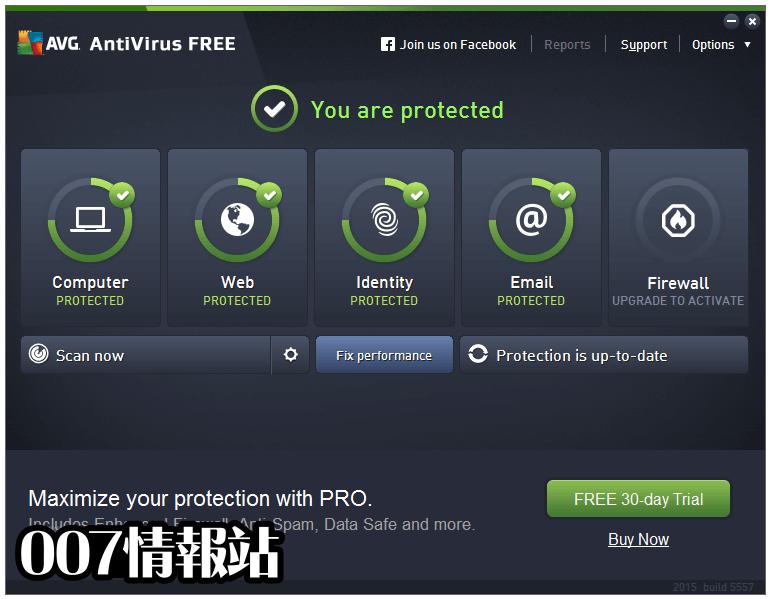 AVG AntiVirus Free (64-bit) Screenshot 1