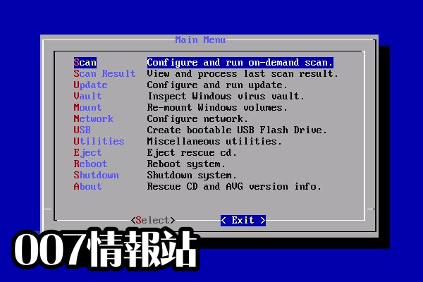 AVG Rescue CD Screenshot 3