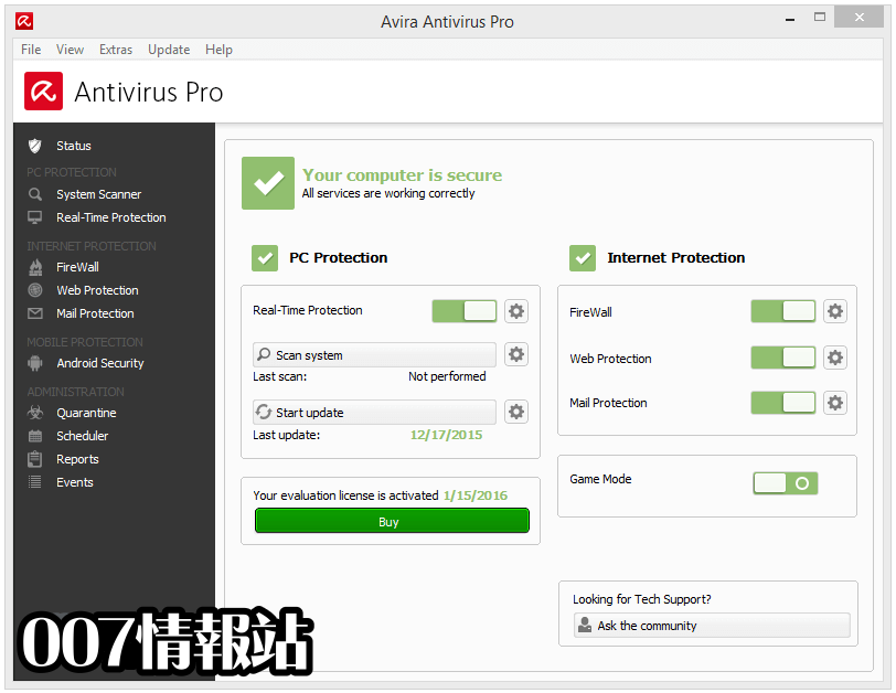 Avira Antivirus Pro Screenshot 1