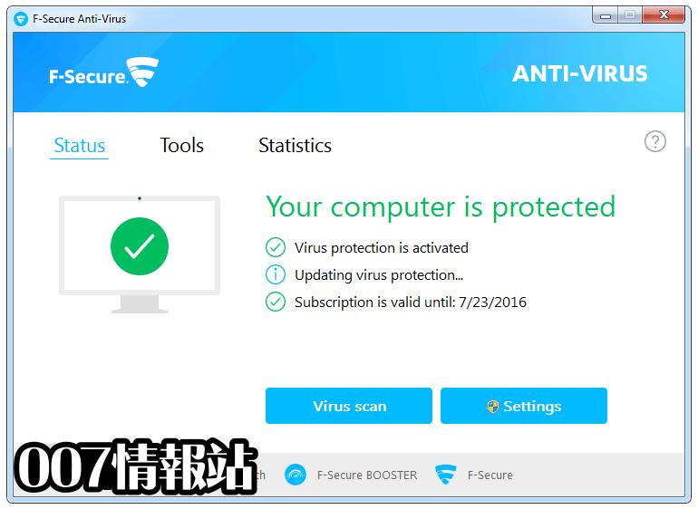 F-Secure Antivirus Screenshot 1