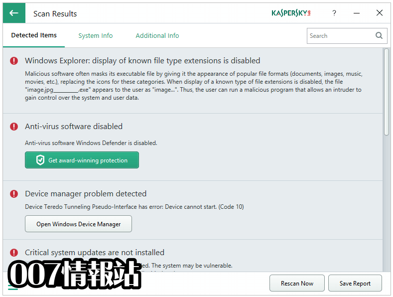 Kaspersky System Checker Screenshot 3
