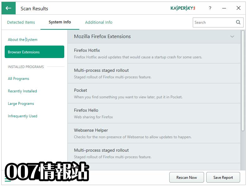 Kaspersky System Checker Screenshot 4