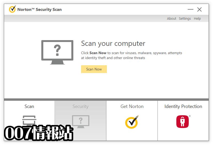 Norton Security Scan Screenshot 1