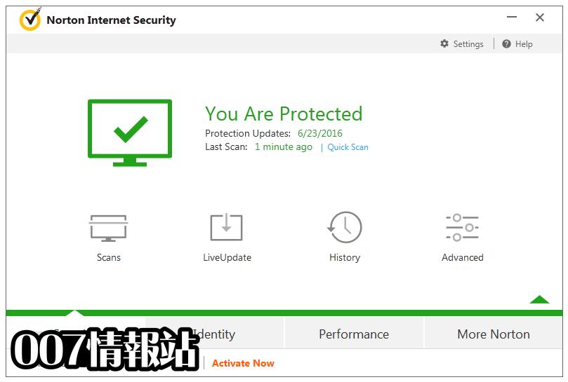 Norton Security Screenshot 1