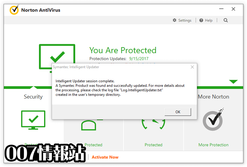 Norton Virus Definitions (32-bit) Screenshot 1
