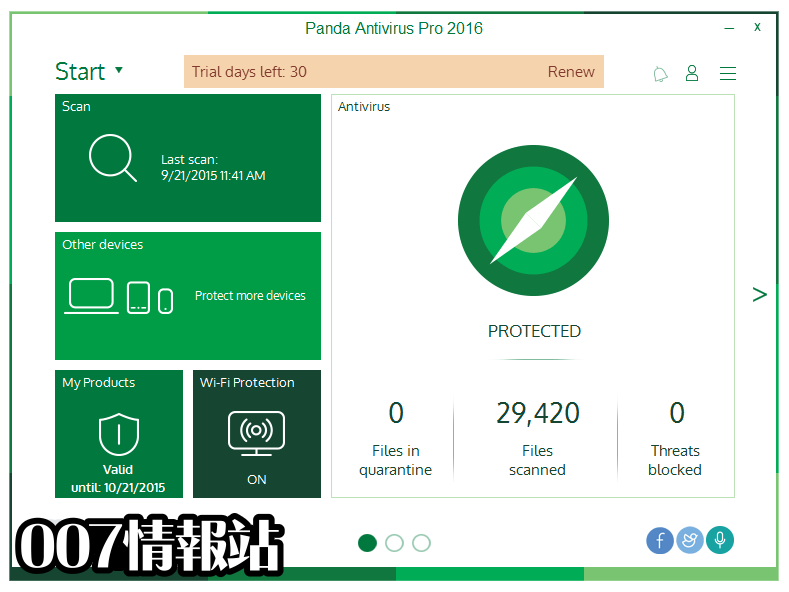 Panda Antivirus Pro Screenshot 1