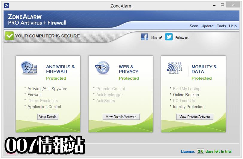 ZoneAlarm Pro Antivirus + Firewall Screenshot 1