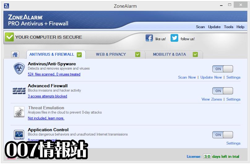 ZoneAlarm Pro Antivirus + Firewall Screenshot 3