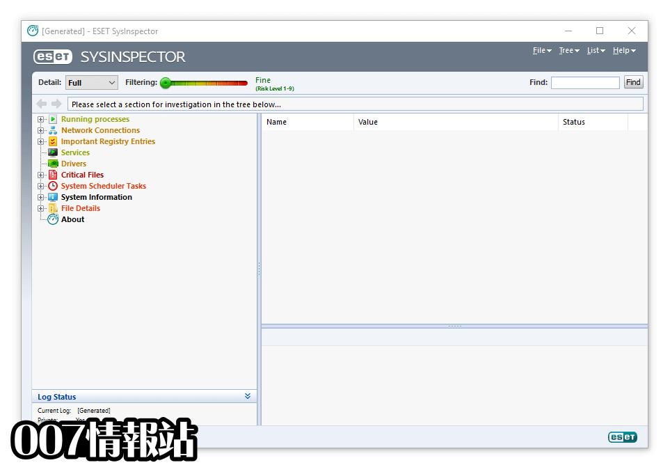 ESET SysInspector (64-bit) Screenshot 1