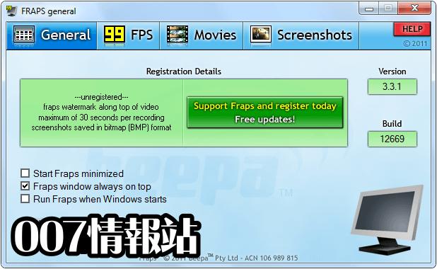 Fraps Screenshot 1
