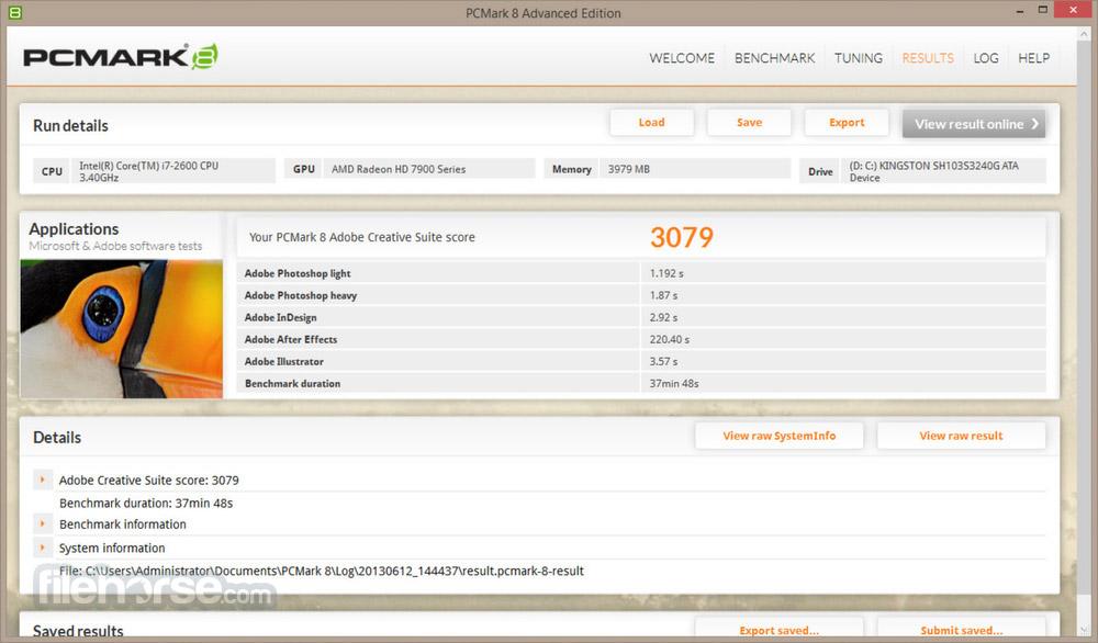 PCMark 8 Screenshot 2