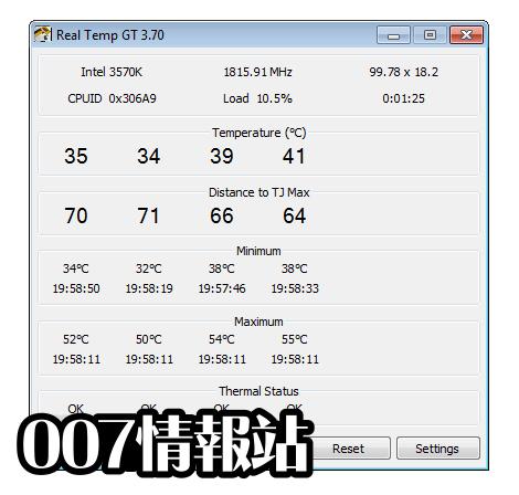 Real Temp Screenshot 1