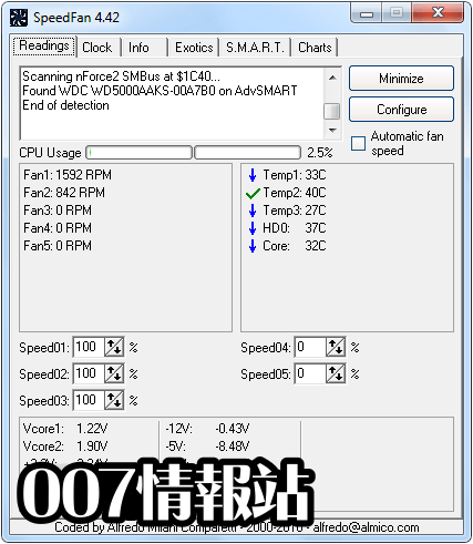 SpeedFan Screenshot 1