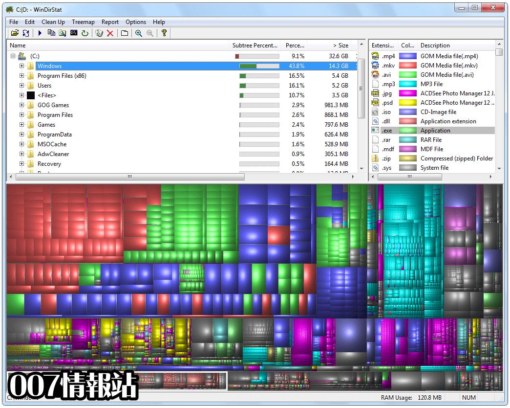 WinDirStat Screenshot 1