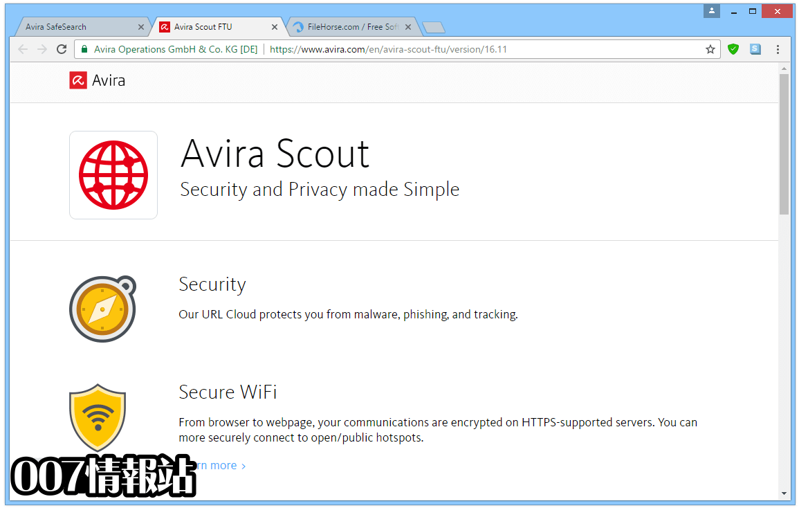 Avira Scout Browser Screenshot 1