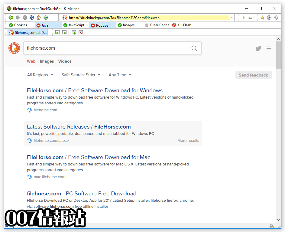 K-Meleon Browser Screenshot 1