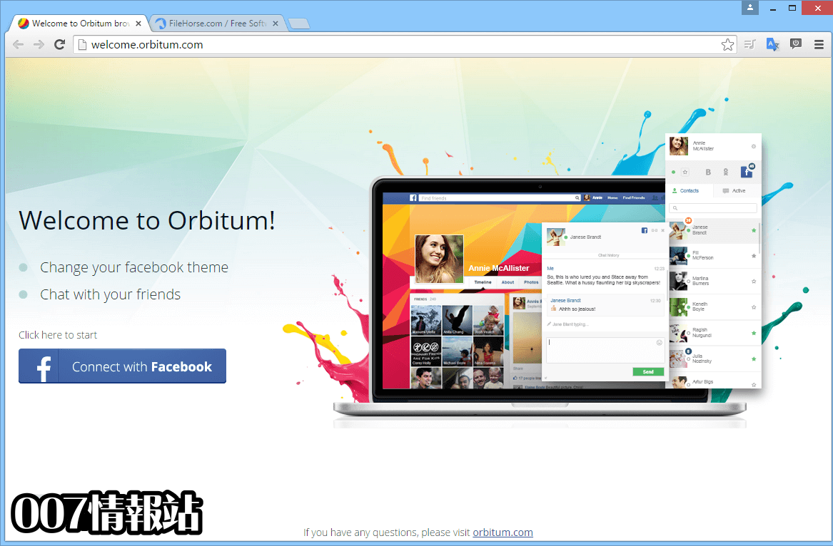Orbitum Browser Screenshot 1