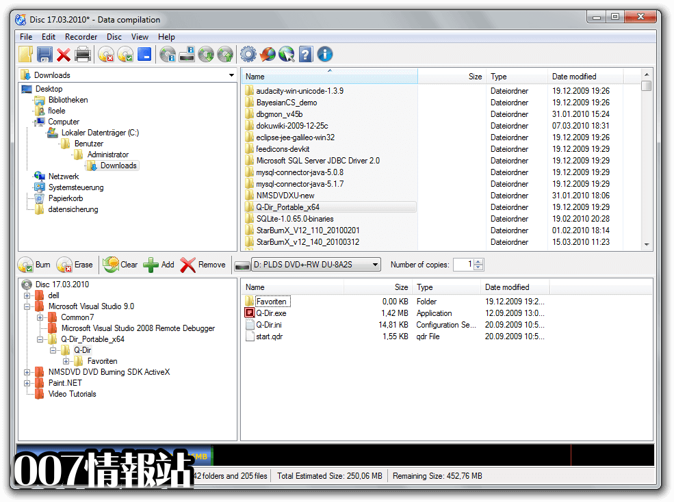 CDBurnerXP (64-bit) Screenshot 1