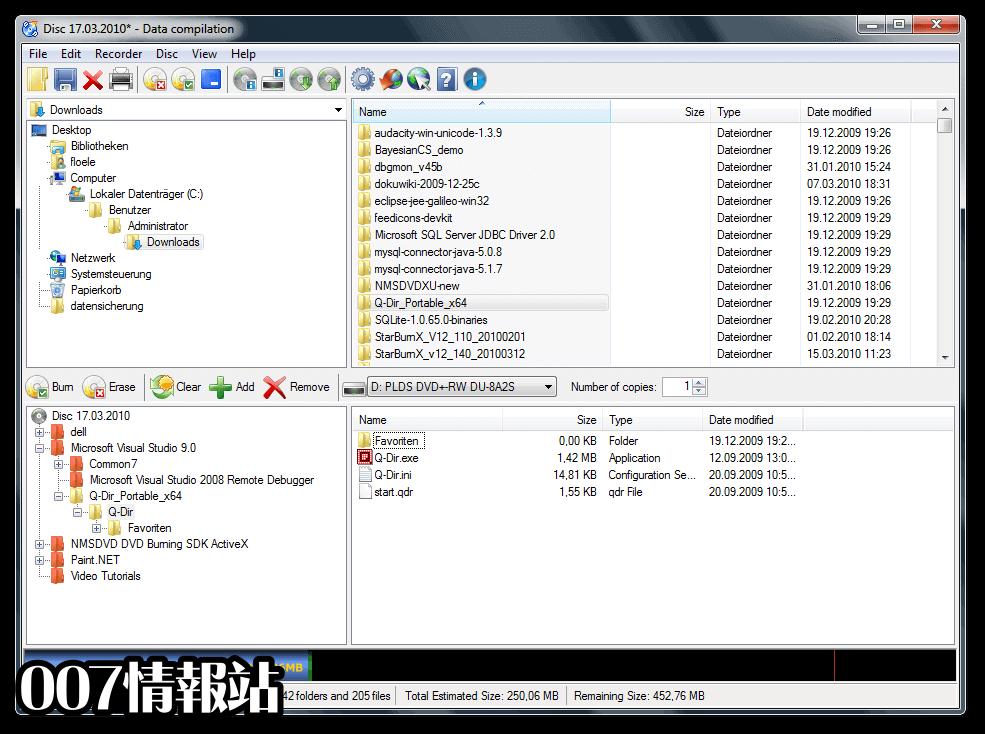 CDBurnerXP (32-bit) Screenshot 1