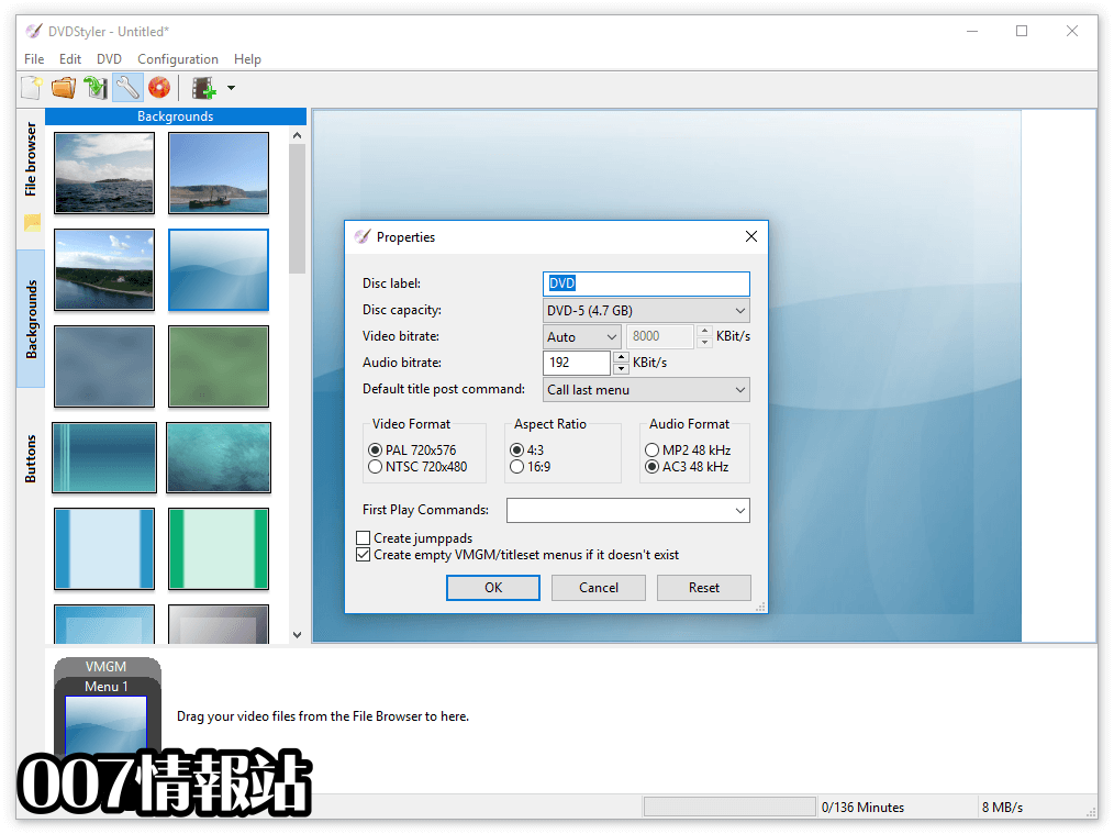 DVDStyler (64-bit) Screenshot 5