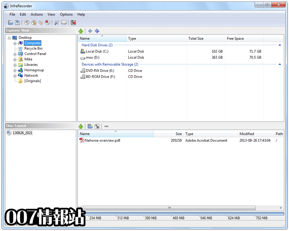 InfraRecorder (64-bit) Screenshot 2