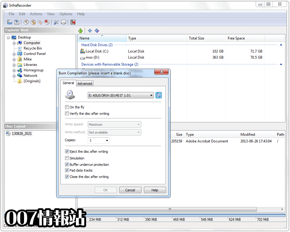 InfraRecorder (64-bit) Screenshot 3