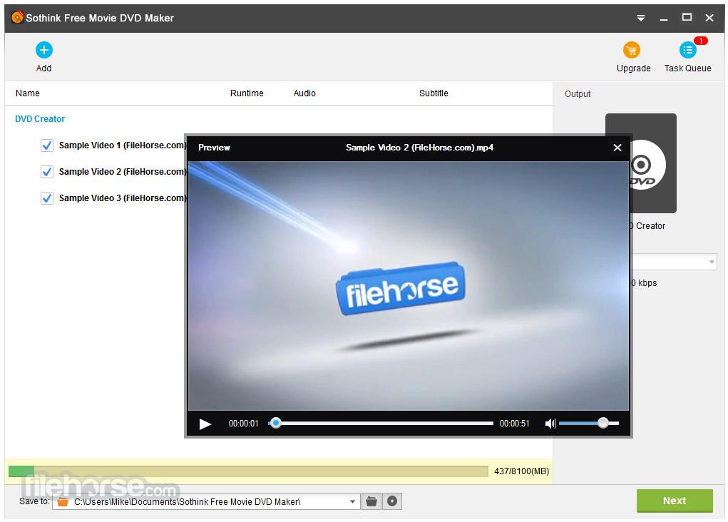 Sothink Free Movie DVD Maker Screenshot 2