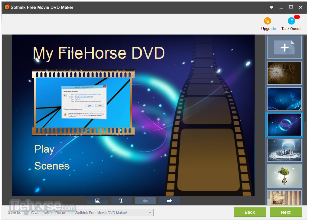 Sothink Free Movie DVD Maker Screenshot 3
