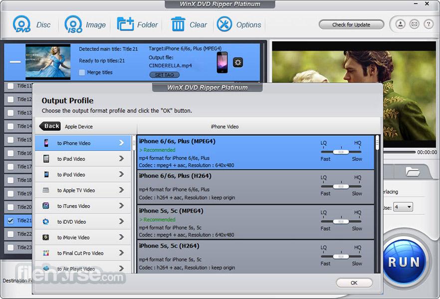 WinX DVD Ripper Platinum Screenshot 3