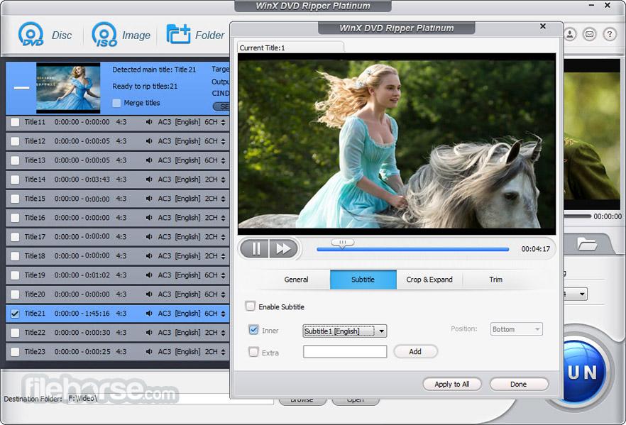 WinX DVD Ripper Platinum Screenshot 4
