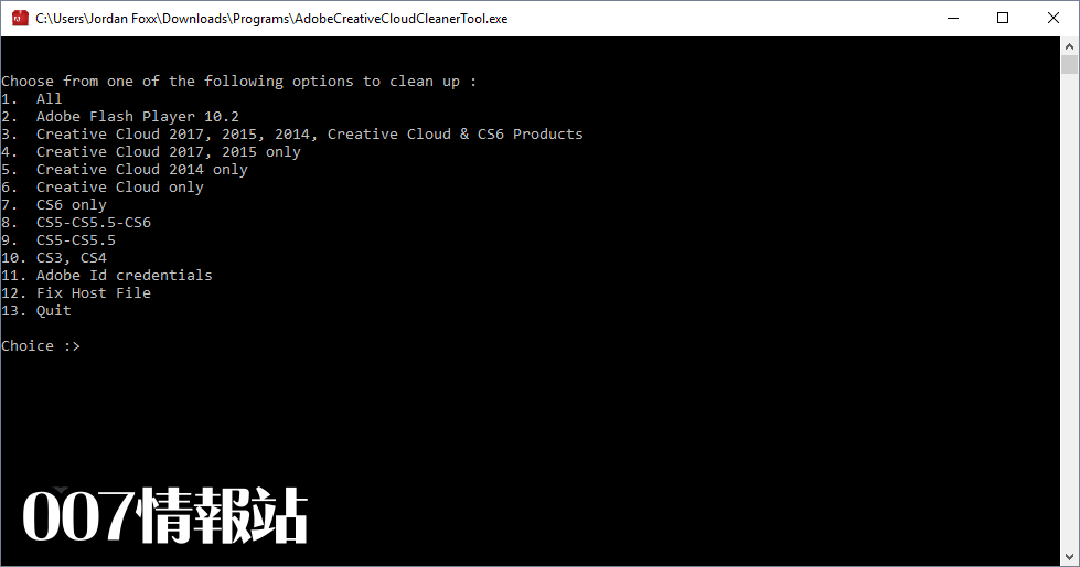 Adobe Creative Cloud Cleaner Tool Screenshot 1