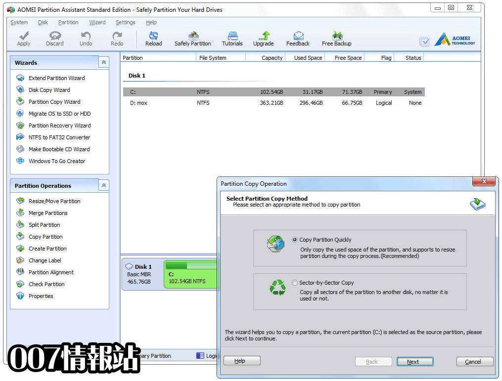 AOMEI Partition Assistant Screenshot 3