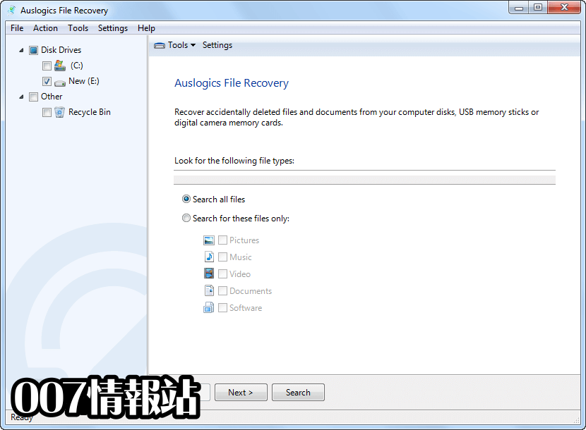 Auslogics File Recovery Screenshot 1