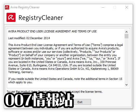 Avira Registry Cleaner Screenshot 1