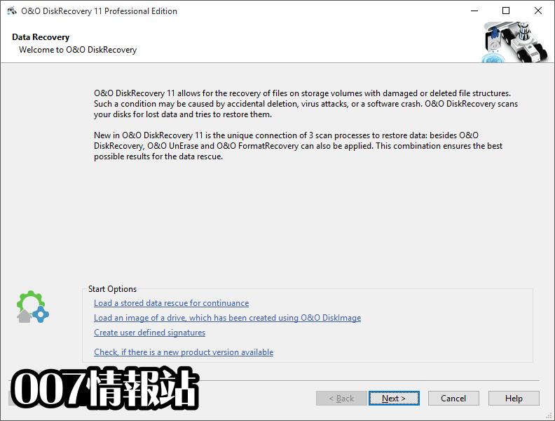 O&O DiskRecovery Professional Edition (32-bit) Screenshot 1