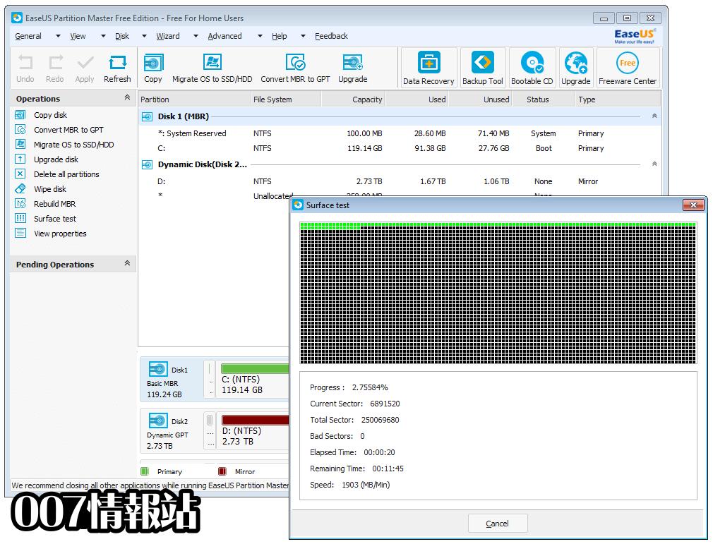 EaseUS Partition Master Free Screenshot 5