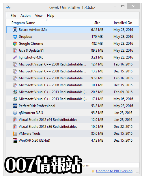 GeekUninstaller Screenshot 1