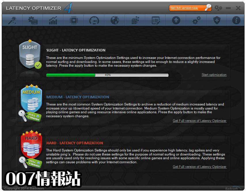 Latency Optimizer Screenshot 1