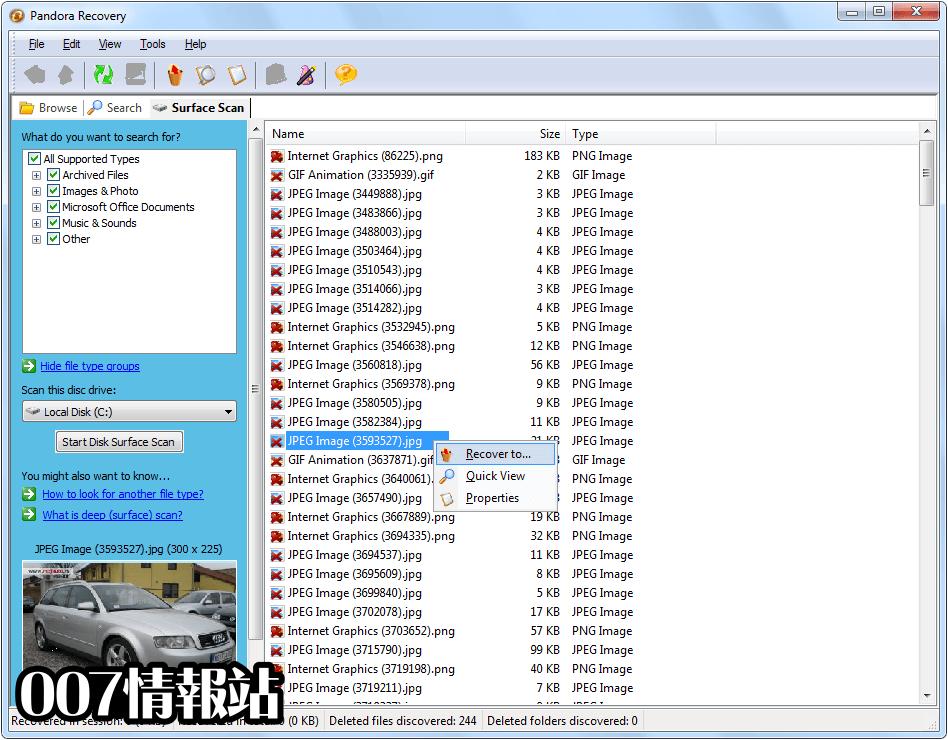 Pandora Recovery Screenshot 3