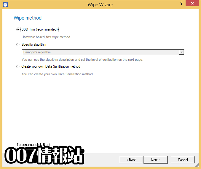 Paragon Disk Wiper (32-bit) Screenshot 3